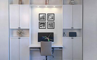 DIY Built in Desk – IKEA Hack Using Billy Bookcases