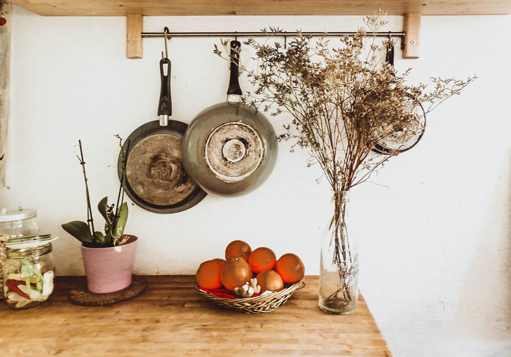 small-kitchen-ideas-Hang your pots and pans