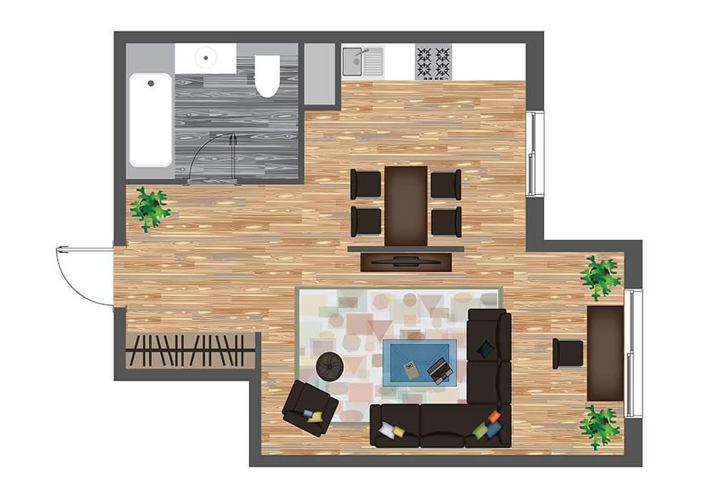Modern Living Room Ideas Rendering