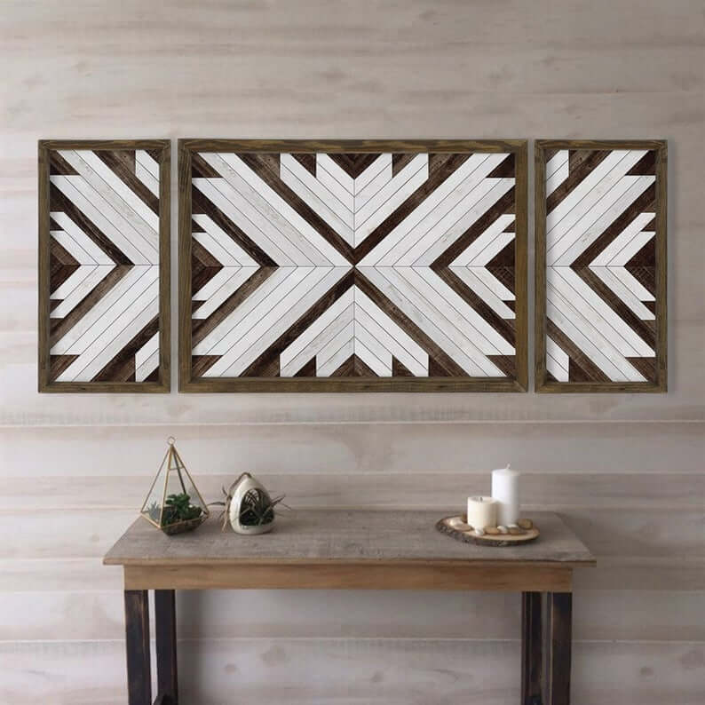 Wood Decor -Geometric Wooden Wall Art