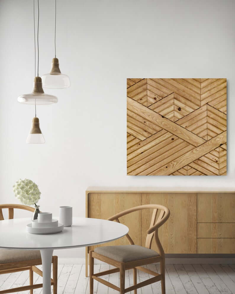 Reclaimed Wood Wall Art Aztec Style